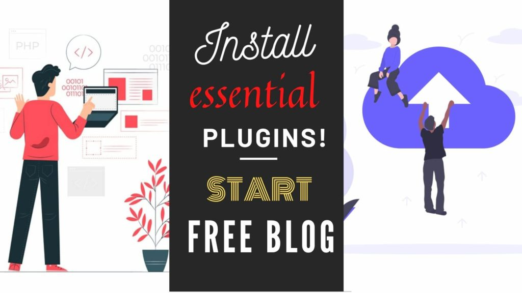 install wordpress plugin to create a blog for free
