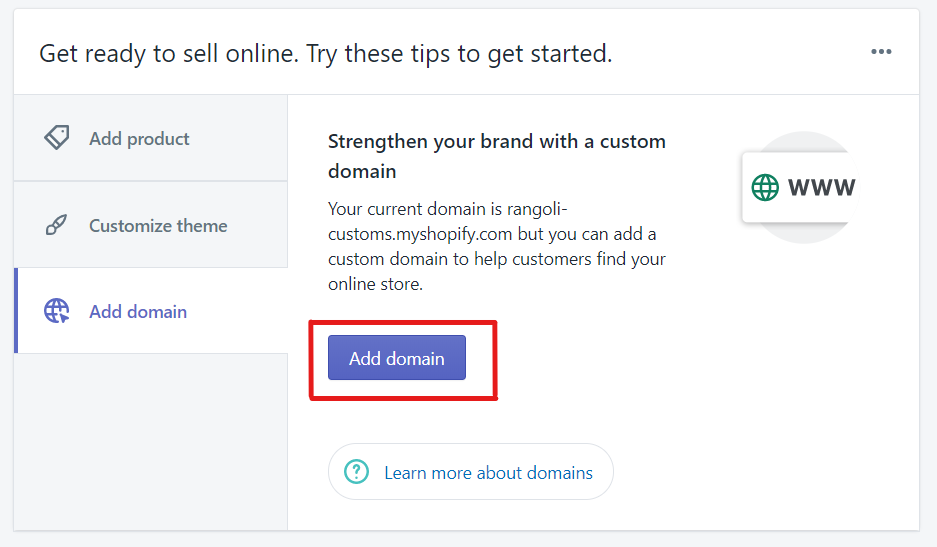 add domain to start a dropshipping business in India