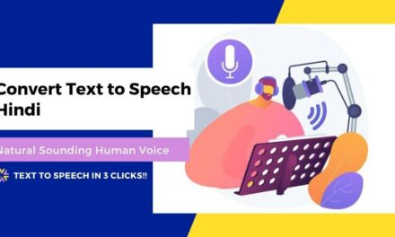 Convert Text to Speech Hindi Language (Real Human Voice)